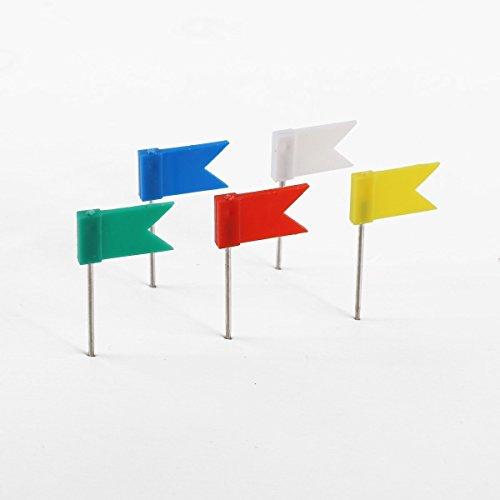 Flag Shaped Push Pin