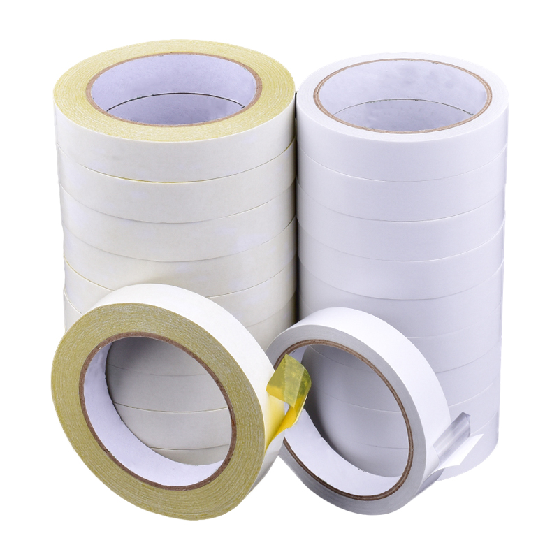 White Hotmelt Based Paper Removable Double Sided Tissue Tape